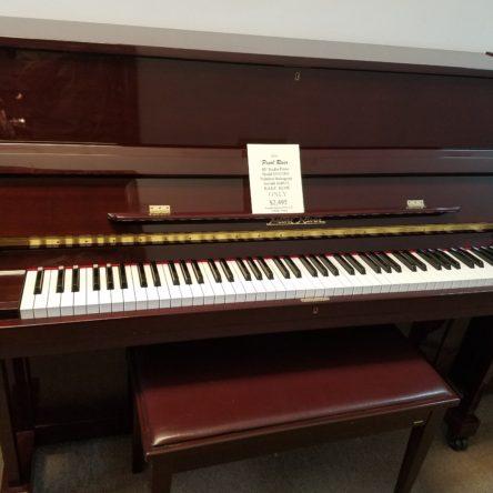 2004 Pearl River Model UP115M1 Polished Mahogany 45′ Studio Piano